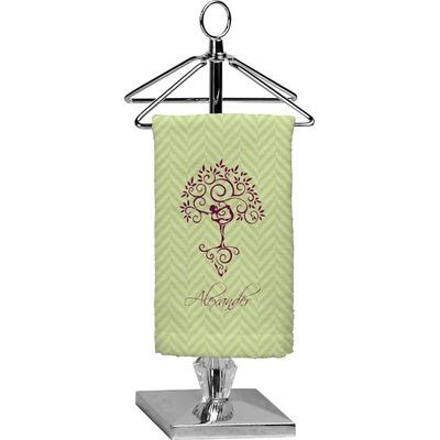 Yoga Tree Finger Tip Towel - Full Print (Personalized)
