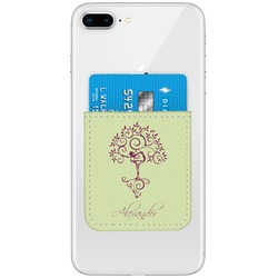 Yoga Tree Genuine Leather Adhesive Phone Wallet (Personalized)