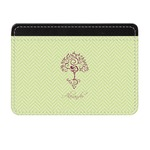 Yoga Tree Genuine Leather Front Pocket Wallet (Personalized)
