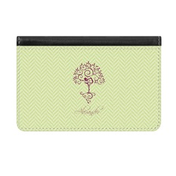 Yoga Tree Genuine Leather ID & Card Wallet - Slim Style (Personalized)