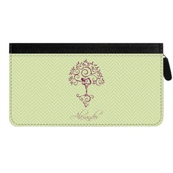 Yoga Tree Genuine Leather Ladies Zippered Wallet (Personalized)
