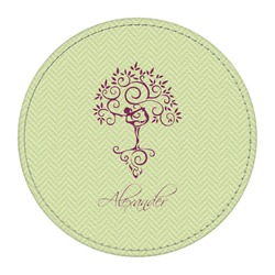 Yoga Tree Round Desk Weight - Genuine Leather  (Personalized)