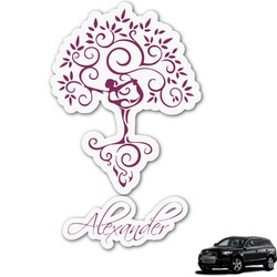 Yoga Tree Graphic Car Decal (Personalized)