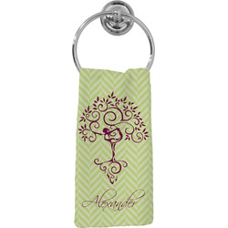 Yoga Tree Hand Towel - Full Print (Personalized)