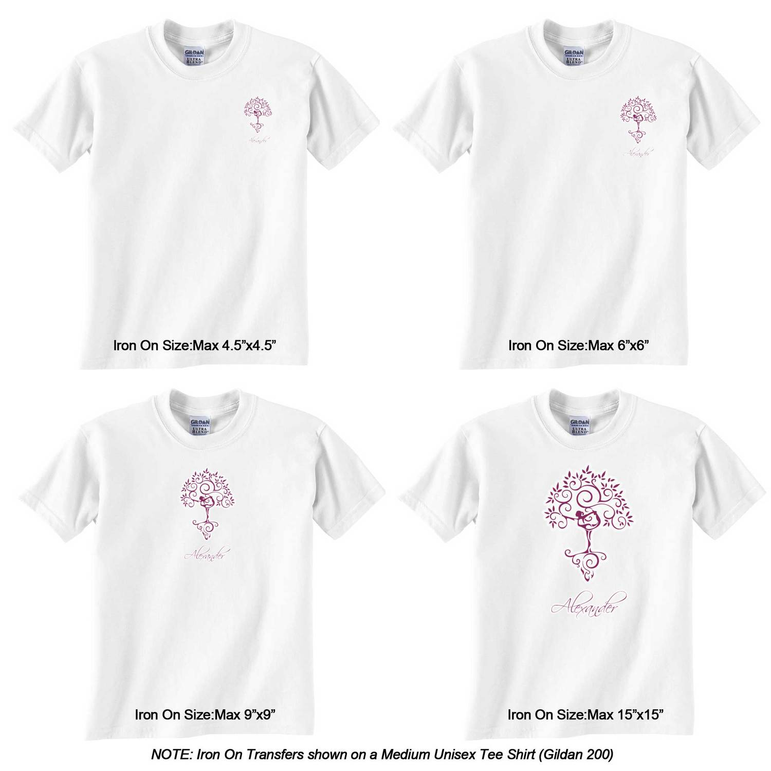 Design your own t-shirt iron on transfer -  Transfer Personalized Yoga Tree Graphic Iron On Transfer Yoga Tree Iron On Transfer Sizes On Tee Shirt