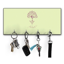 Yoga Tree Key Hanger w/ 4 Hooks (Personalized)