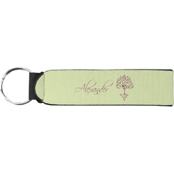 Yoga Tree Neoprene Keychain Fob (Personalized)
