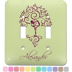 Yoga Tree Light Switch Cover (2 Toggle Plate) (Personalized)