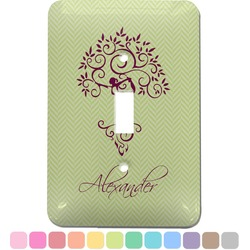Yoga Tree Light Switch Cover (Single Toggle) (Personalized)