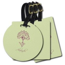Yoga Tree Plastic Luggage Tags (Personalized)