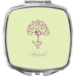 Yoga Tree Compact Makeup Mirror (Personalized)