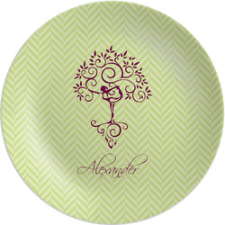 "Yoga Tree Melamine Plate - 8"" (Personalized)"
