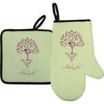 Yoga Tree Oven Mitt & Pot Holder (Personalized)
