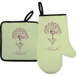 Yoga Tree Oven Mitt & Pot Holder (Personalized)