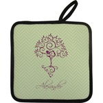 Yoga Tree Pot Holder w/ Name or Text