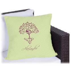 Yoga Tree Outdoor Pillow (Personalized)