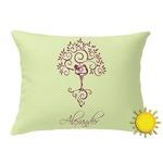 Yoga Tree Outdoor Throw Pillow (Rectangular) (Personalized)