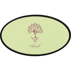 Yoga Tree Oval Trailer Hitch Cover (Personalized)