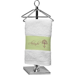 Yoga Tree Finger Tip Towel (Personalized)