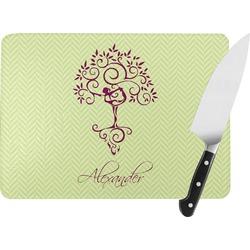 Yoga Tree Rectangular Glass Cutting Board (Personalized)
