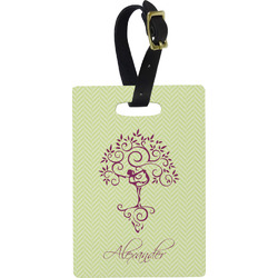 Yoga Tree Rectangular Luggage Tag (Personalized)