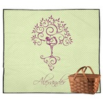 Yoga Tree Outdoor Picnic Blanket (Personalized)