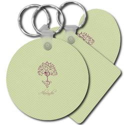 Yoga Tree Plastic Keychains (Personalized)