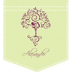 Yoga Tree Iron On Faux Pocket (Personalized)