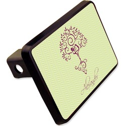 "Yoga Tree Rectangular Trailer Hitch Cover - 2"" (Personalized)"