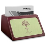 Yoga Tree Red Mahogany Business Card Holder (Personalized)