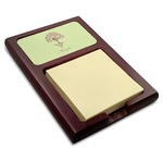 Yoga Tree Red Mahogany Sticky Note Holder (Personalized)
