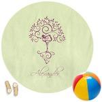 Yoga Tree Round Beach Towel (Personalized)
