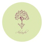 Yoga Tree Round Decal - Custom Size (Personalized)
