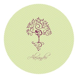 Yoga Tree Round Decal (Personalized)