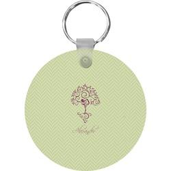 Yoga Tree Round Keychain (Personalized)