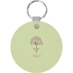 Yoga Tree Round Keychain (Personalized)