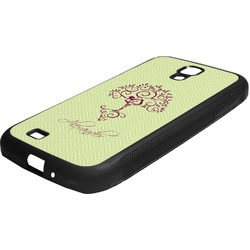 Yoga Tree Rubber Samsung Galaxy 4 Phone Case (Personalized)