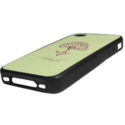 Yoga Tree Rubber iPhone Case 4/4S (Personalized)