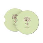 Yoga Tree Sandstone Car Coasters (Personalized)