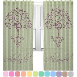 Yoga Tree Sheer Curtains (Personalized)