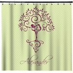 Yoga Tree Shower Curtain (Personalized)
