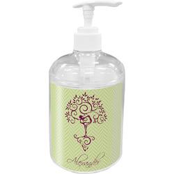 Yoga Tree Acrylic Soap & Lotion Bottle (Personalized)