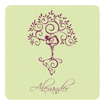 Yoga Tree Square Decal - Custom Size (Personalized)