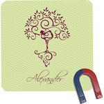 Yoga Tree Square Fridge Magnet (Personalized)