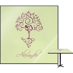Yoga Tree Square Table Top (Personalized)