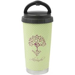 Yoga Tree Stainless Steel Travel Mug (Personalized)