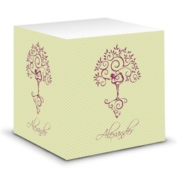 Yoga Tree Sticky Note Cube (Personalized)