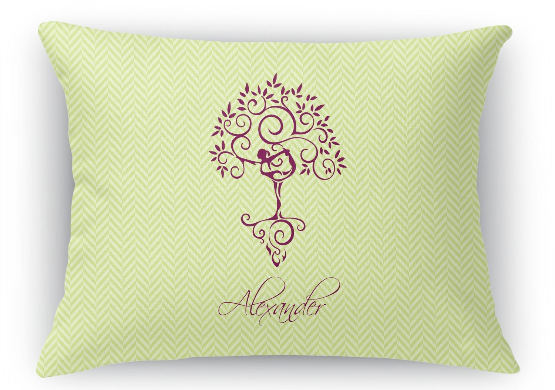 Yoga Tree Rectangular Throw Pillow - 12