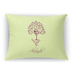 Yoga Tree Rectangular Throw Pillow Case (Personalized)