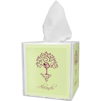 Yoga Tree Tissue Box Cover (Personalized)